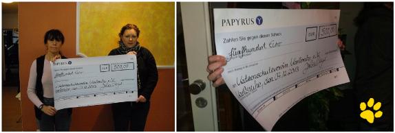 Firma Papyrus zeigt ein großes Herz