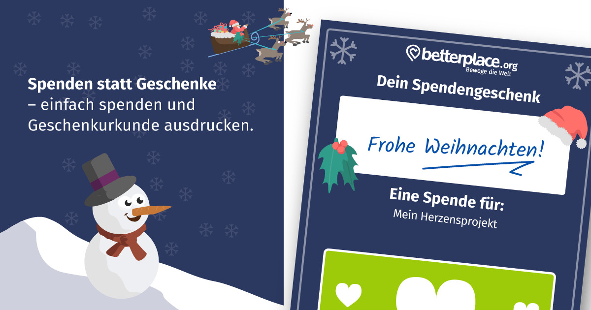 Betterplace-Adventskalender: Jede Spende wird um 10% erhöht